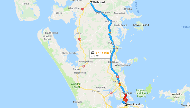 Wellsford to Auckland – Thursday March 7