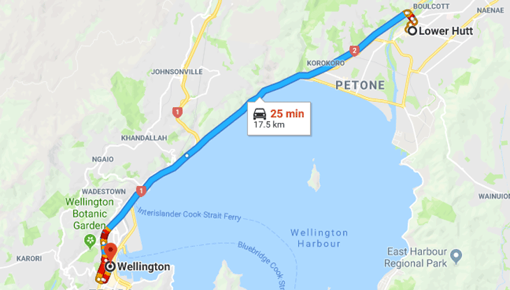 Lower Hutt to Wellington – Monday March 18