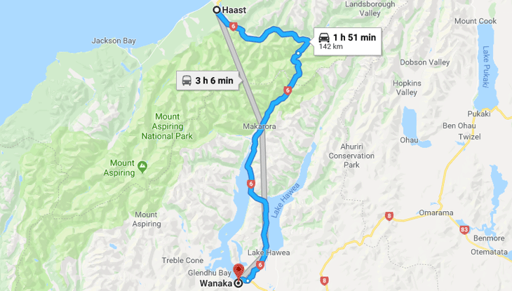 Haast to Wanaka – Monday March 25