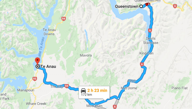 Queenstown to Te Anau – Wednesday March 27